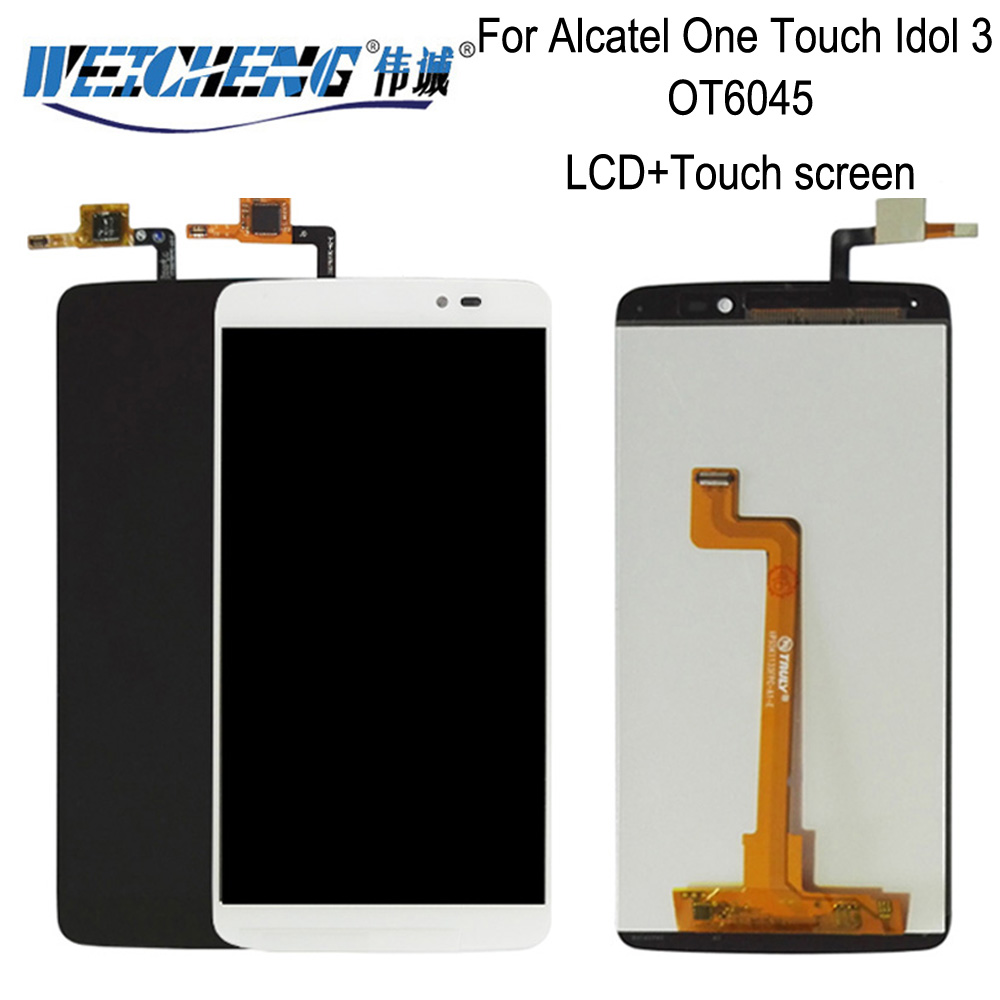 For <font><b>Alcatel</b></font> One Touch Idol 3 5.5 OT6045 6045 6045K <font><b>6045Y</b></font> Touch Screen Digitizer LCD <font><b>Display</b></font> Assembly Free Shippi image
