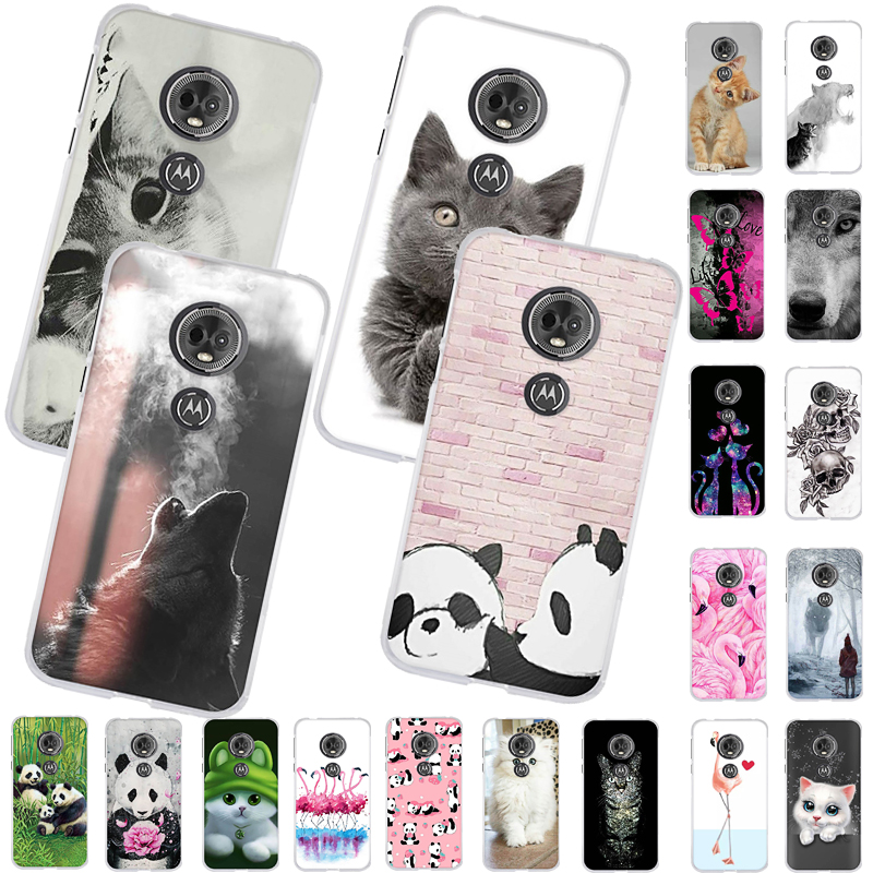 5.7'' For Moto G6 Play Case Silicone Soft TPU Cute Cartoon Phone Case For Motorola Moto E5 G6 Play Case G6play G 6 Play Cover