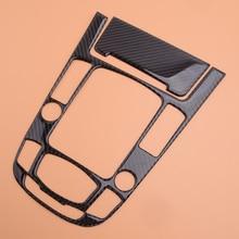 Schwarz Carbon Faser 2 stücke Center Konsole Getriebe Shift Panel Aufkleber Abdeckung Trim Fit für Audi A4L A5 Q5 2009 2012 2013 2014 2015 2016