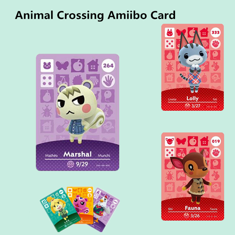 Animal Crossing Amiibo Card New Horizons For NS Games Amibo Switch/lite Amiibo Card NFC Welcome Cards Series 1-4 264 Marshal NFC