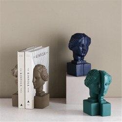 Скандинавский стиль римская мифологическая Богиня Венера головные портреты из смолы книжные концы креативное украшение для офисного стол...