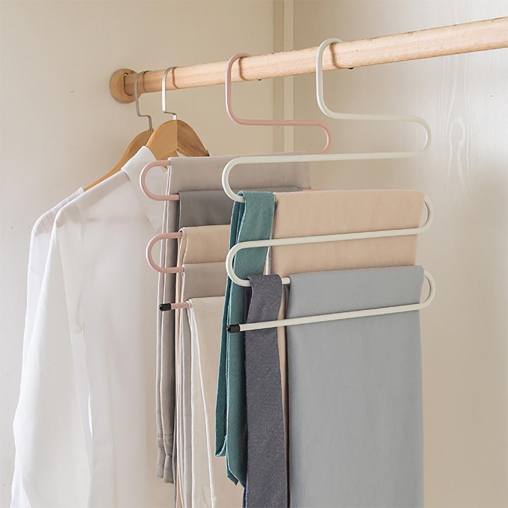 Hangers Storage-Rack Iron Multilayer Multifunction S-Shape