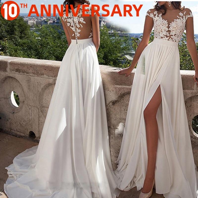 OLLYMURS Elegant Lace Print Evening Dress Legs Split Zipper Up Full Body Flower Print For Formal Evening Party Dance