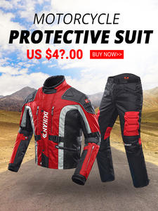 Motorcycle Jacket Protector Clothing Moto-Suit DUHAN Winter Touring Autumn Pants Cold-Proof