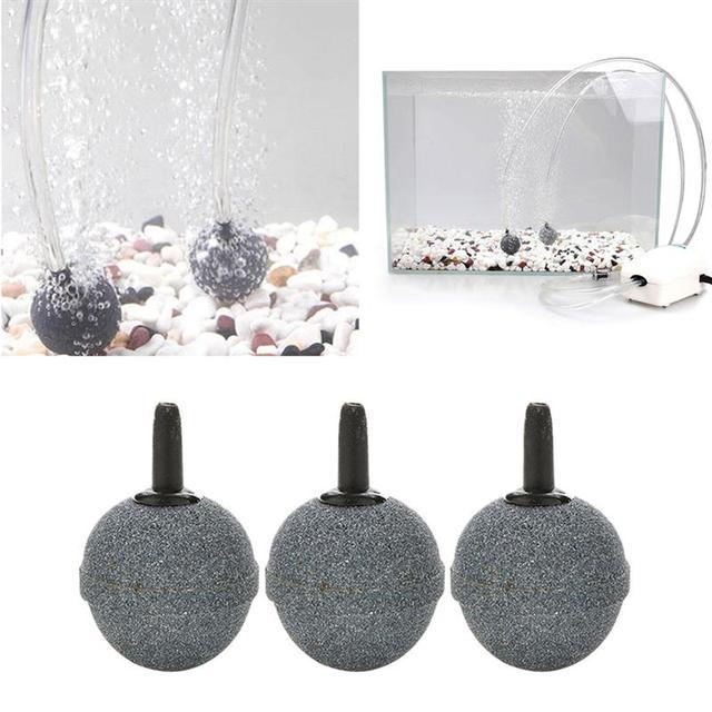 12 قطعة حجارة الهواء دائم مستديرة Airstone المعدنية فقاعة معطر الهواء حجر للأسماك حوض السمك الزراعة المائية