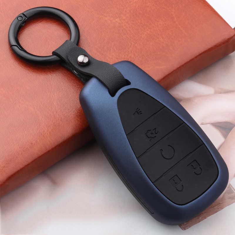 Accessoires de voiture intelligent 2020 en fibre de carbone ABS, pour Chevrolet Malibu, Equinox Cruze, Camaro etui clés, 2016, 2017, 2018