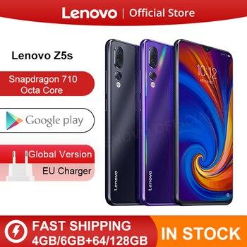 הגלובלי גרסת Lenovo Z5s Snapdragon 710 אוקטה Core 6GB 128GB SmartPhone פנים מזהה 6.3 AI משולש אחורי מצלמה אנדרואיד P הסלולר