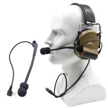 купить Tactical Hunting Headphones Mic Parts Microphone For Comtac II Noise Reduction Headset Tactical Talkback Comtac Ii Military Headset  High Tone Quality Headphone Airsoft по цене 579.67 рублей