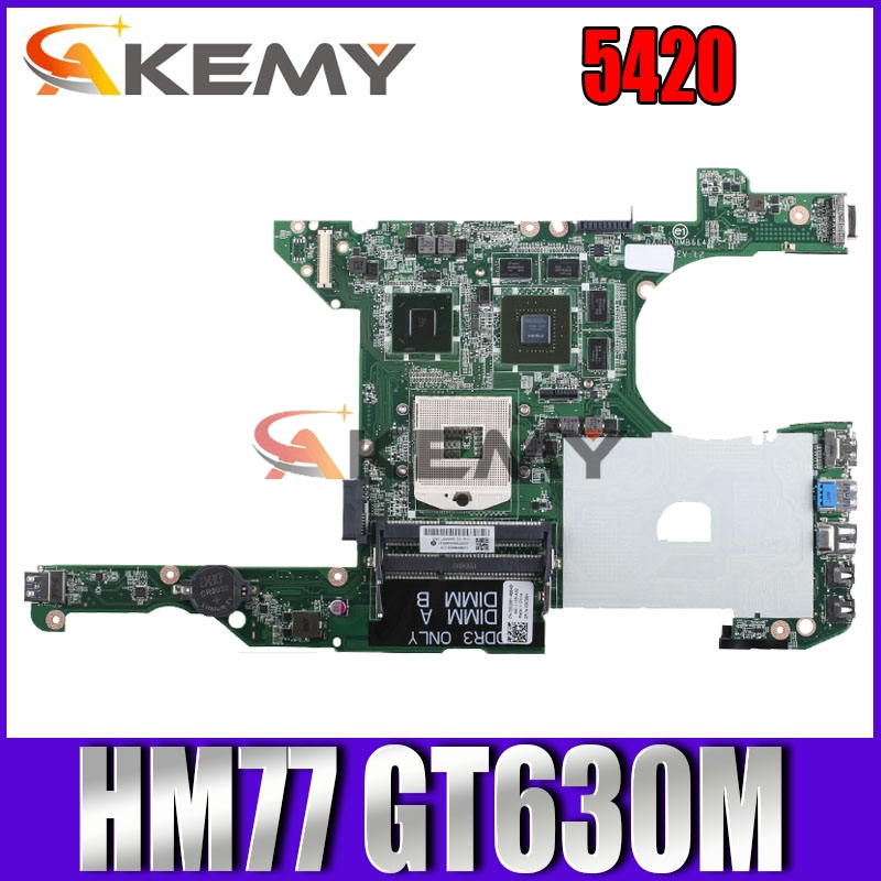DR0R08MB6E2 Motherboard For DELL 14R 5420 7420 Laptop Motherboard DA0R08MB6E2 HM77 GT630M Original Test Mainboard