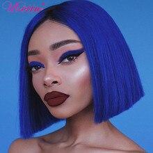 Short Bob Wig Human-Hair Honey Blonde Purple Full-Machine Cheap Remy Women UBETTA
