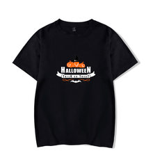 Хит продаж 2020 футболки на Хэллоуин с принтом тыквы женские/мужские