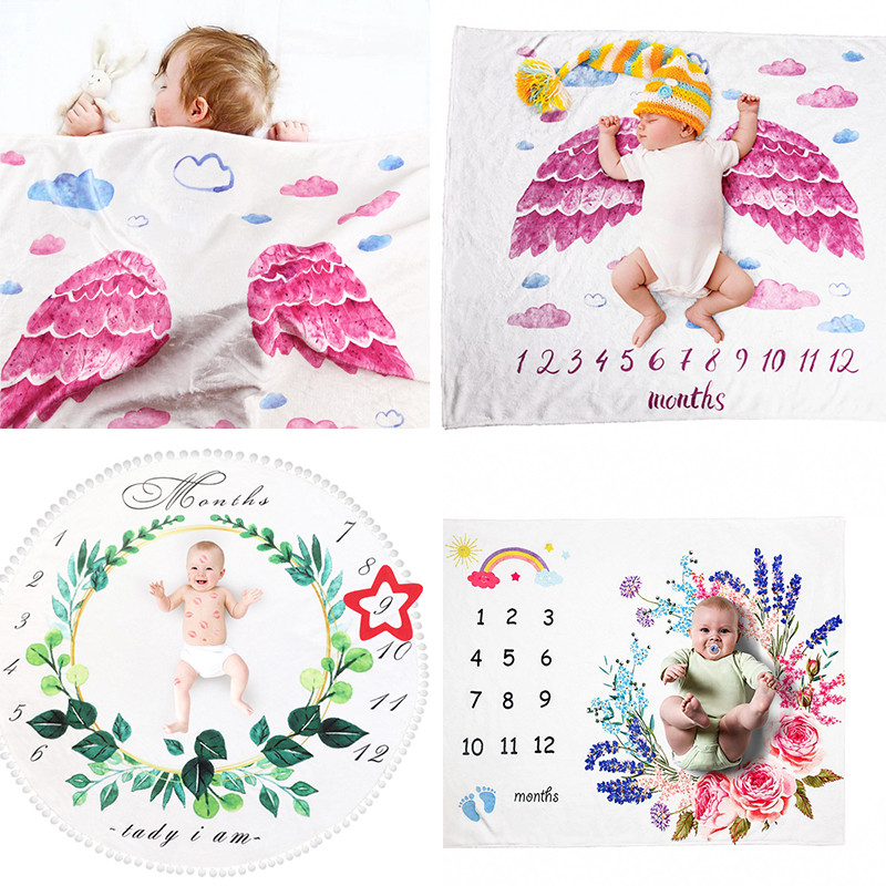 BalleenShiny Warm Baby Blankets Newborn Winter Swaddle Wrap Stoller Bedding Cover DIY Photo Props Milestone Baby Bath Towel