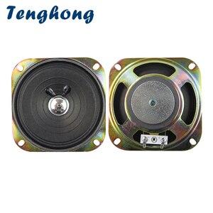 Image 1 - Tenghong 2pcs 4 Inch Portable Audio Speaker 8Ohm 3W Full Range Speaker Unit For Keyboard Broadcast Car Audio Loudspeaker 102MM