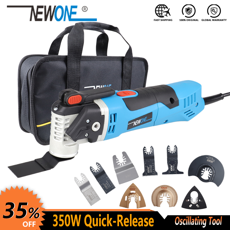 NEWONE Multi-Function tool 350W Quick Release Oscillating Tool Electric Trimmer Quick-change Tool Renovator Blades Wood-cutting