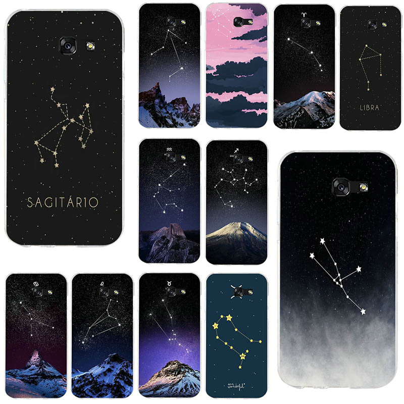 For Samsung Galaxy Note <font><b>2</b></font> 3 4 <font><b>5</b></font> 8 9 A 10 20 30 40 50 60 <font><b>70</b></font> 80 90 Soft Cover Constellation Aquarius Leo Taurus image