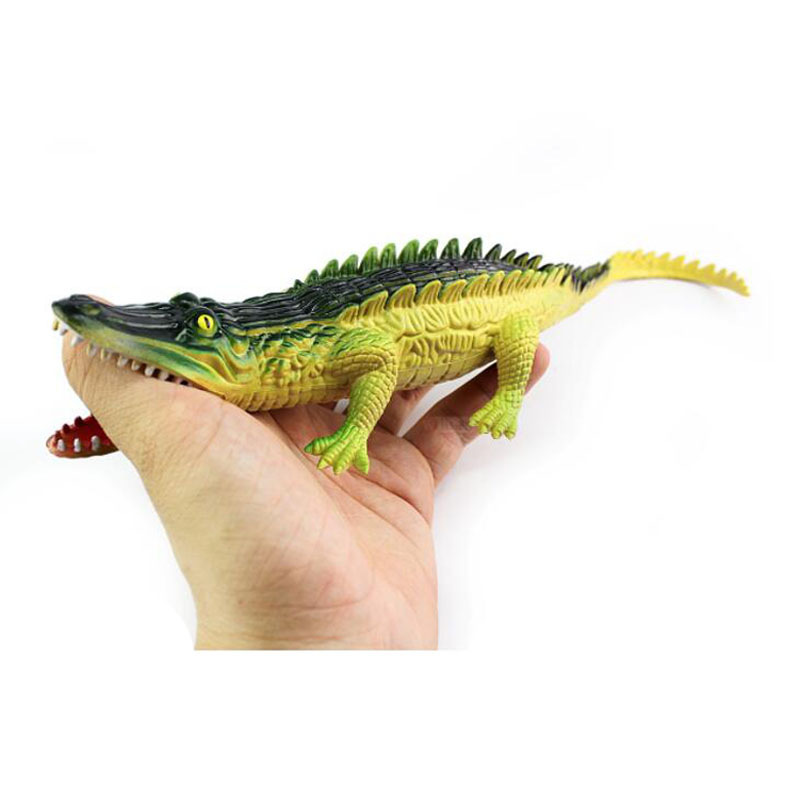 Squeeze Alligator Crocodile Toy BB Sound Prank Toys Fake Animal Model Kids Fun Unique Novelty Children