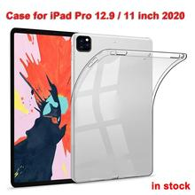 цена на Transparent Case For iPad Pro 12.9 Inch 2020 Case Ultra Thin Soft TPU Tablet Back Case For iPad Pro 11 Inch Cover Protective