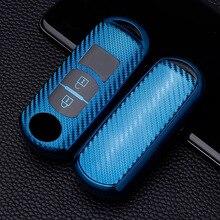 Soft Carbon Fiber TPU Car Key Cover Case Skin Protective Shell Holder for Mazda 3 5 6 Axela Atenza CX-5 CX5 CX-7 CX-9 Smart Key