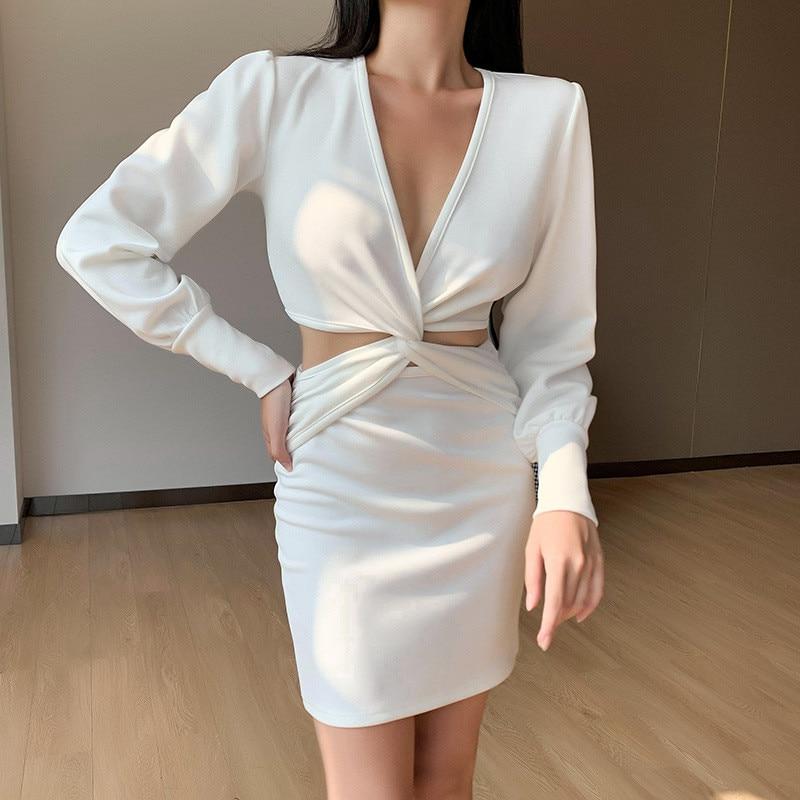 long sleeve white dress16