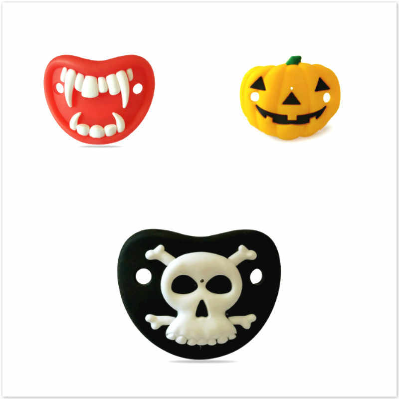 1pcs Vampire Pumpkin Pacifier Food Grade Silicone Funny Baby Dummy Nipple Teethers Toddler Orthodontic Soothers Teat Baby Gift