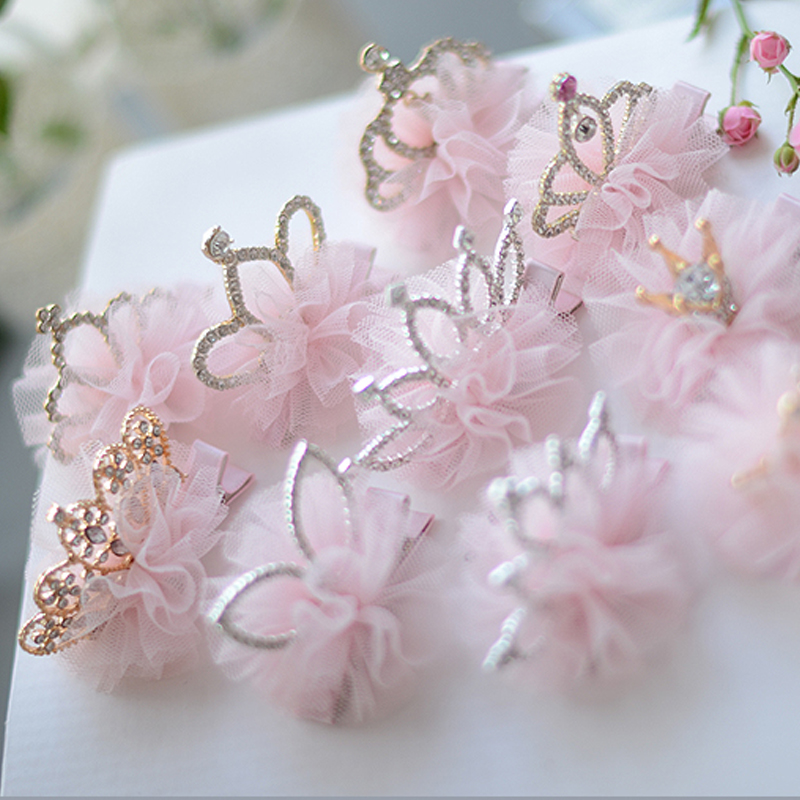 Children's Crown Headdress Princess Korean Girl Hair Clip Baby Hair Ornament Hair Band Crown Birthday Little Girl Hair Clip