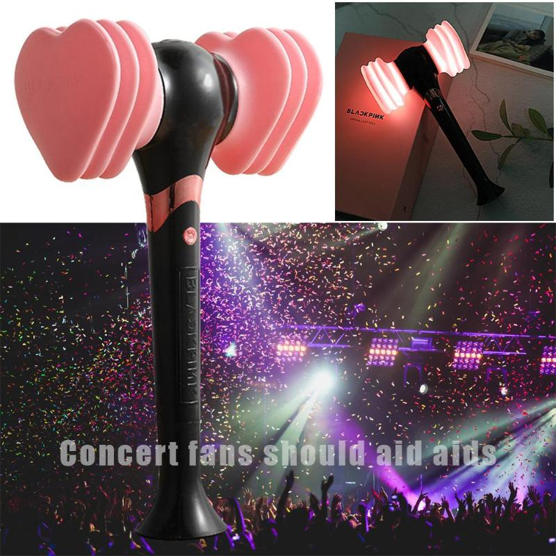 Portable Blackpink Hammer Light Stick Concert Glow Lamp Hammer Portable Light Fans Gift LED Luminous Fluorescent Novelty Toy