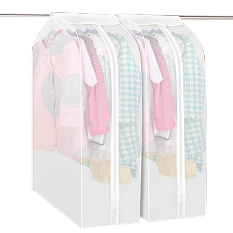 Hot Sales Transparent Storage Bags Clothes Protector Suit Coat Dust Cover Protector Clothes Storage Bags Home Hanging Organizer