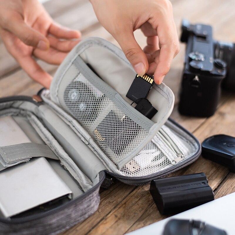Портативный кабель orgainzer мешок внешняя батарея сумка для