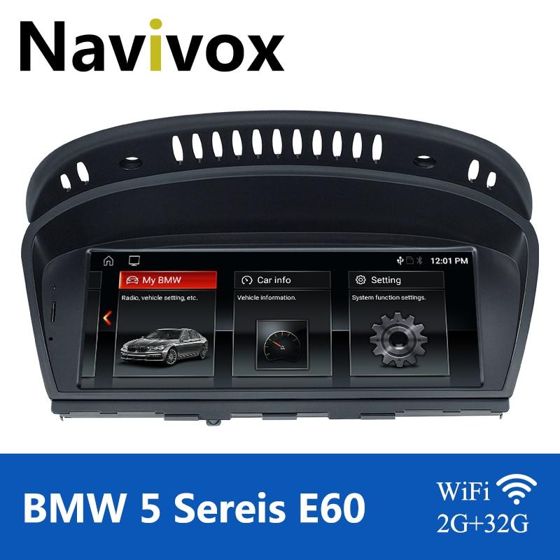 Автомагнитола Navivox, автомагнитола на Android 10,0 с GPS для BMW серий 5/3, E60, E61, E63, E64, E90, E91, E92, CCC, CIC, Автомобильный мультимедийный плеер, BMW E60, Android