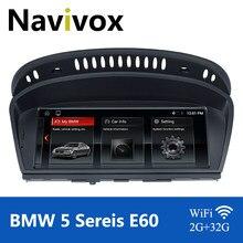 Navivox android 10.0 carro gps rádio para bmw série 5/3 e60 e61 e63 e64 e90 e91 e92 ccc cic carro multimídia jogador bmw e60 android