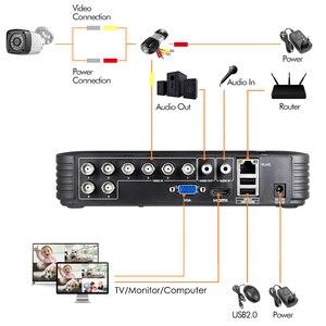 Image 4 - 4 قطعة 4MP 4CH AHD DVR كاميرا تلفزيونات الدوائر المغلقة نظام الأمن عدة في الهواء الطلق كاميرا نظام مراقبة بالفيديو للرؤية الليلية P2P HDMI 1520P