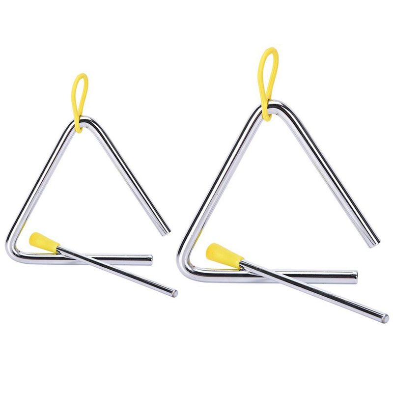 Dropship-Set Of 2 Percussion Musical Instrument Alloy Triple-cornered Instruments With Strikers