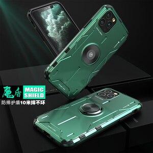 Image 3 - Metal alüminyum zırh iPhone için kılıf 11 kılıf funda coque iPhone xs için xr 11 Pro Max telefon kılıfı kapak darbeye dayanıklı Fundas tutucu