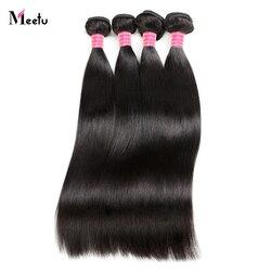Meetu Peruvian Straight Hair Bundles 100% Human Hair Weave Bundles 8-28 inch Non Remy Hair Extensions Buy 3 or 4 Bundles Deal