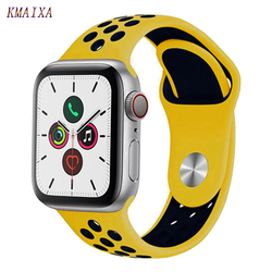 Correa para apple watch 5 correa apple watch 42mm 38 mm 44mm 40mm serie iwatch 4 3 2 1 pulsera de silicona correa de reloj