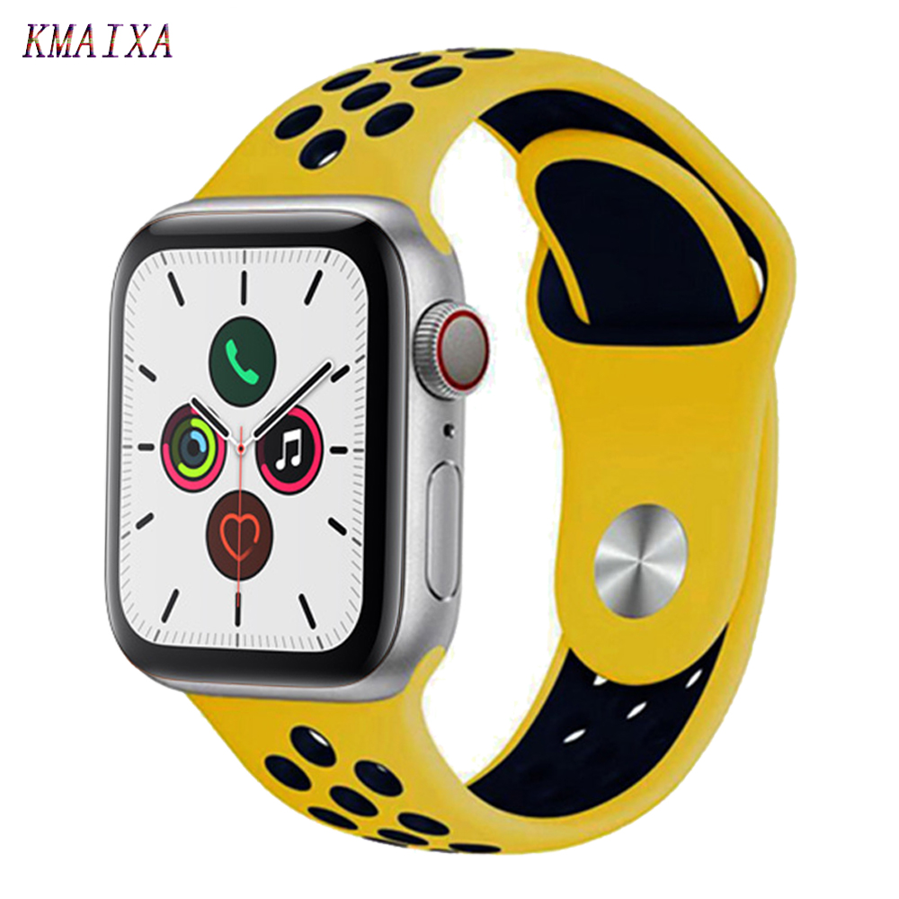 Strap For Apple Watch 5 Band Correa Apple Watch 42mm 38 Mm 44mm 40mm Iwatch Series 4 3 2 1 Silicone Pulseira Bracelet Watchband