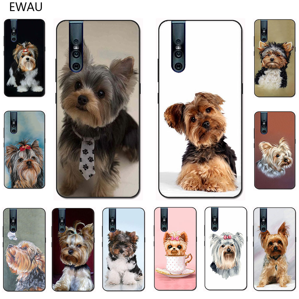 EWAU Yorkshire terrier dog soft TPU phone <font><b>case</b></font> for <font><b>VIVO</b></font> V15 V11Pro V9 V7 V5 Y17 Y55s Y69 Y71 Y81s Y91C Y93 Y66 <font><b>X9s</b></font> image