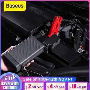 BASEUS 16000mAh Car Jump Starter Booster Power Bank Battery 1600A 12V Auto Starting Device Emergency Battery with Car Charger