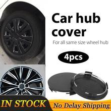Centre de roue pour voiture noir sans Logo, 60mm, 4 pièces, couvercle cache moyeu, accessoire de remplacement pour automobile