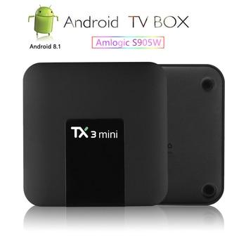 Top box TX3 Mini Android7.1 TV Box Smart TV H2.65 IPTV 4K Set Top Box TVBOX Media Player Amlogic S905W 2G 16G Tanix Android Box