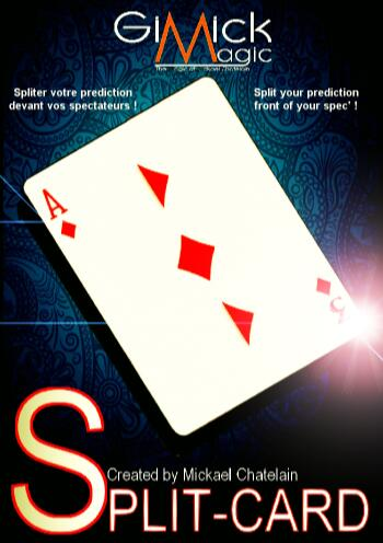 Split Card By Mickael Chatelain- MAGIC TRICKS
