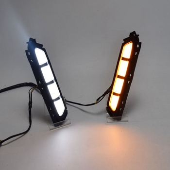 LED Daytime Running Lights Daylight Fog Lamp with Yellow Turn Signal Style Relay DRL for Hyundai Elantra 2019 2020 AVANTE