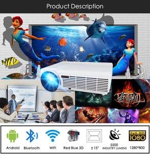 Image 5 - Poner Saund LED96 WIFI מקרן 3D 5500 Lums מלא HD אנדרואיד 6.0 אלחוטי מסך רב אינטראקטיבי 10m HDMI חצובה 3D Proyector