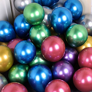 Image 5 - 20/50pcs 5 Inch Pearl Metallic Latex Ballon Goud Ronde Metalen Ballonnen Verjaardagsfeestje blazen Lucht Globos Bruiloft decor supplies