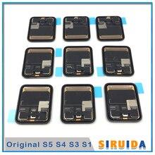 Conjunto de tela touch lcd original testado, para apple watch series 4 5 3 2 44mm gps reposição celular lte