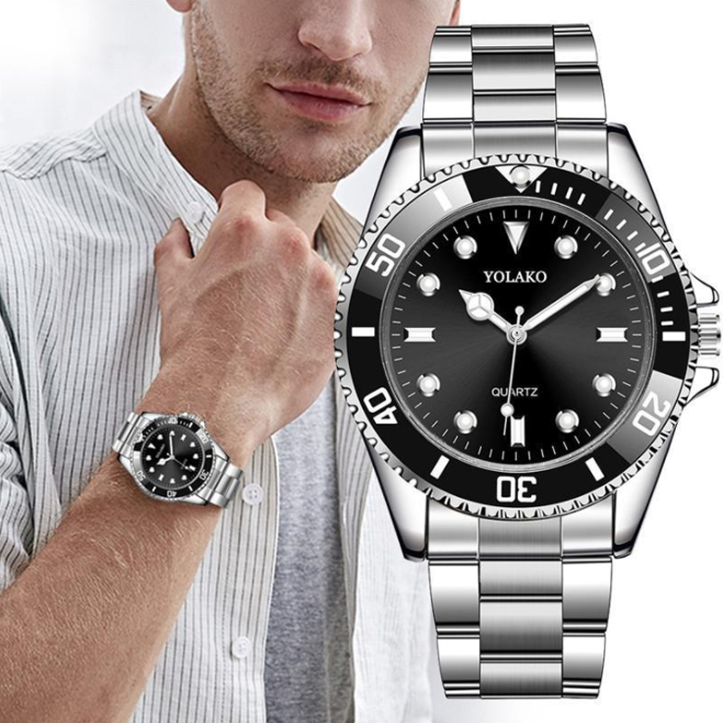 Men's Watch New Luxury Business Watch Men Waterproof Green Dial Watches Fashion Male Clock Wrist Watch Relogio Masculino