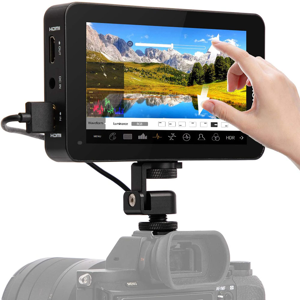 Desview R6 UHB 4K Monitor 5.5 Inch Camera Field Monitor FHD 2800nits 1920x1080 3D LUT HDR Touch Screen for Sony Canon Video