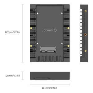 Корпус для жесткого диска ORICO 1125Ss, Стандартный, 2,5-3,5 дюйма, 7/9,5/12,5 мм, адаптер для жесткого диска Caddy Sata 3,0 2,5-3,5 дюйма