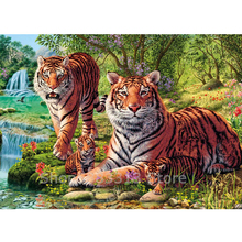Forest tiger Diamond Painting completely icons DIY Embroidery 5d full round drills Rhinestone Mosaic