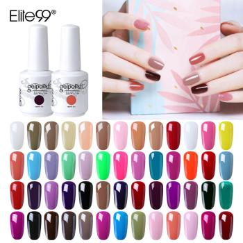 Elite99 15ml Nagellack Gel Hybrid Nagel Glitter Semi-Permanent Emaille Gel Lacke für Nägel Kunst Maniküre Tränken off UV LED